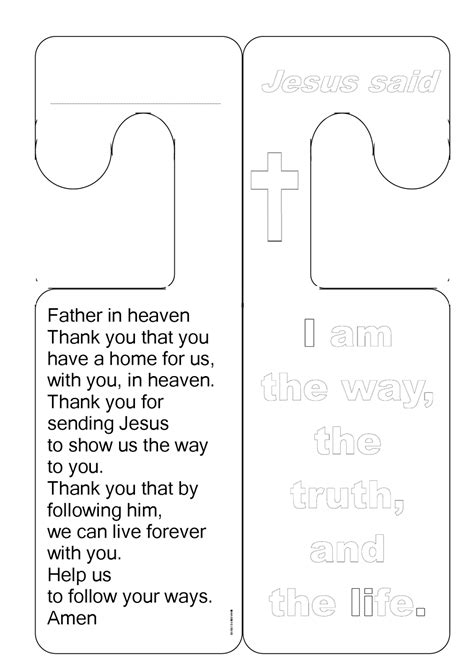 The Catholic Toolbox October 2010 Free Church Door Hanger Template