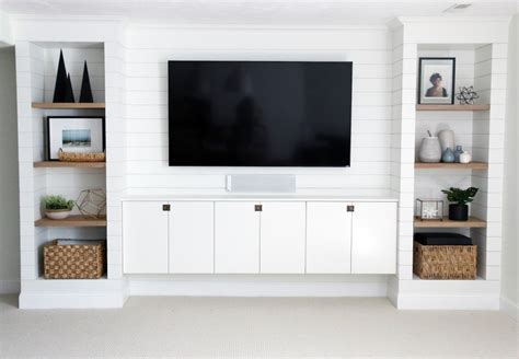 built ins diy shiplapped built ins finished and styled chris