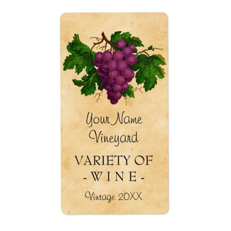 template for wine bottle labels wine template vintage grapes personalized bottle label