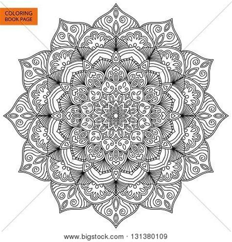 mandala coloring book price philippines coloring book page mandala outline vector photo bigstock