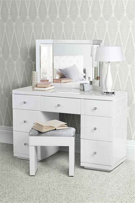 Decoration Mirrors Home by Valeria White Glass Dressing Table My Furniture