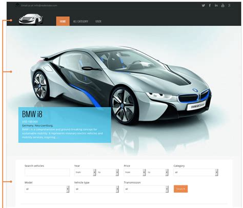 template for a car orda car template free joomla theme vinaora