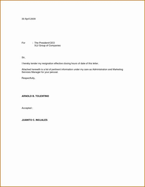 template for resignation letter singapore immediate resignation letter template exles letter