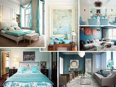 and blue home decor from navy to aqua summer decor in shades of blue