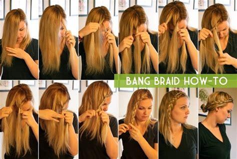 15 braided bangs tutorials easy 15 braided bangs tutorials easy hairstyles pretty