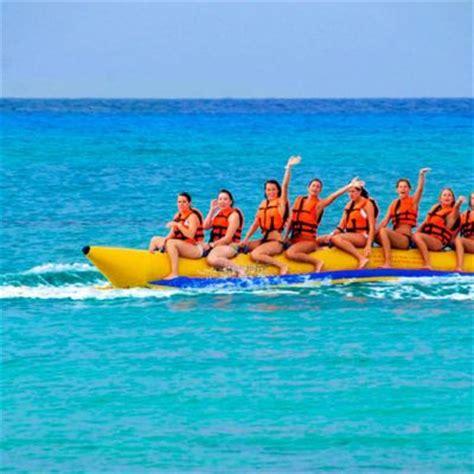 banana boat ride cancun banana rides with dressel divers