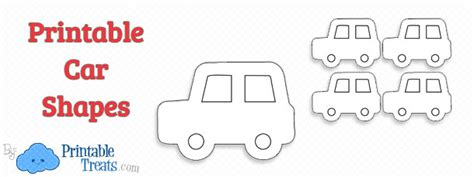 templates for cars printable car shapes printable treats
