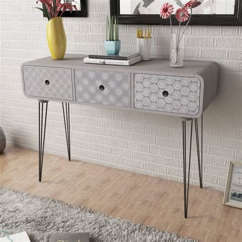 console table with cabinets side cabinet console table with 3 drawers grey