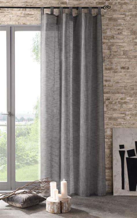 gardinen grau gardinen deko 187 vorhang leinenoptik grau gardinen