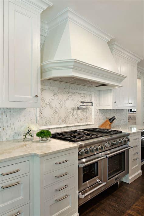 Wall Mount Pot Filler Kitchen Faucet by Taj Mahal Quartzite Transitional Kitchen 2 Design Group