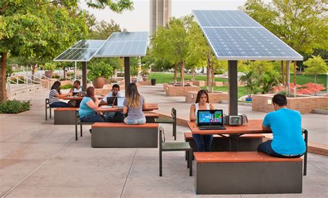 outdoor office furniture outdoor solar workstation for corporate cus connectable