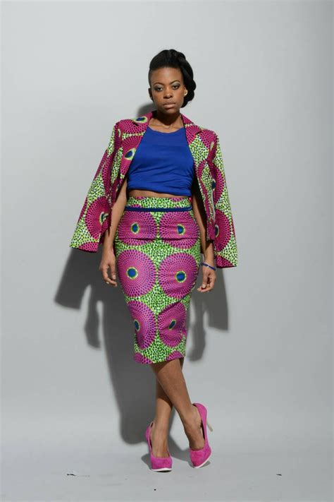 african pencil skirt styles african print pencil skirt pink green by rahyma on etsy