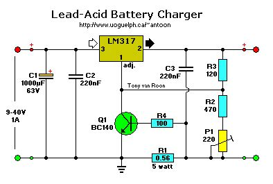 lm317 lead acid battery charger circuit lead acid battery charger schematic diagram circuit