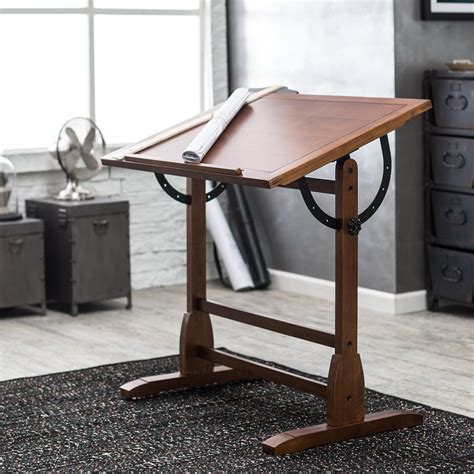 Studio Drafting Table Studio Designs Vintage Drafting Table Rustic Oak Drafting Drawing Tables At Hayneedle