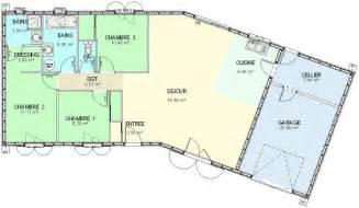 plan ossature bois plain pied 4 chambres