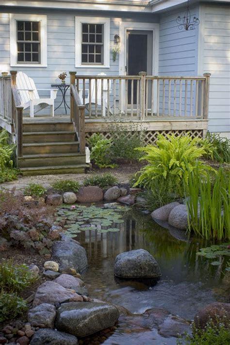 beautiful backyard pond ideas homemydesign