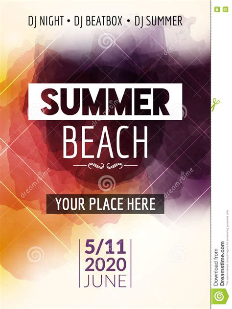 summer beach party flyer template design summer party
