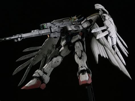 Gundam Wings Black Silver gundam mg 1 100 wing custom zero shooting custom build