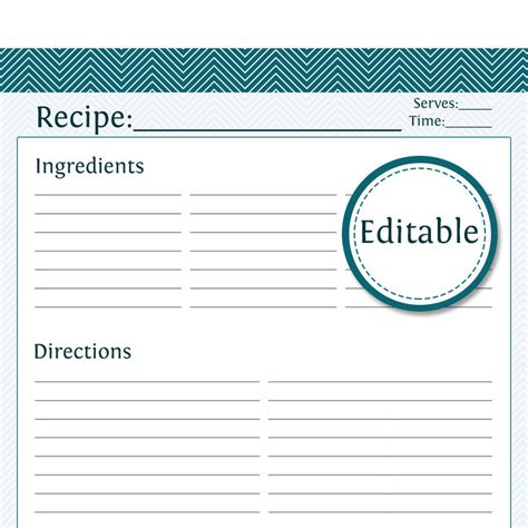 page recipe template for word page recipe template for word template business