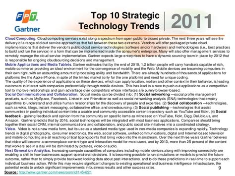 2007 Top 10 Trends by Top 10 Strategic Technology Trends 2007 2014 Gartner