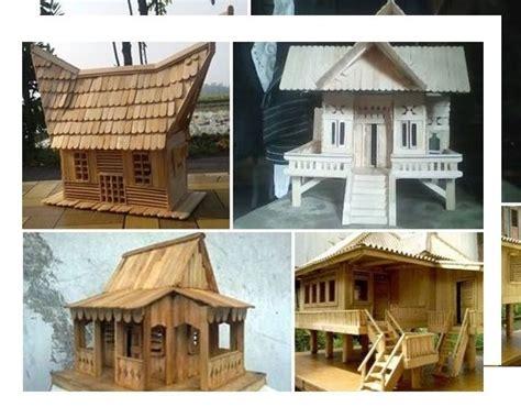 cara membuat rumah adat padang dari kardus 41 desain rumah adat dari stik es krim 84 desain