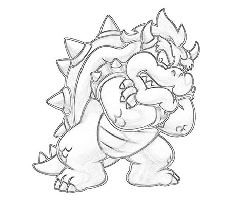 dry bowser mario coloring pages sketch coloring page
