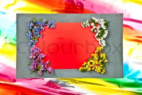 flower design using colored paper red paper blank on grey and colored background flowers