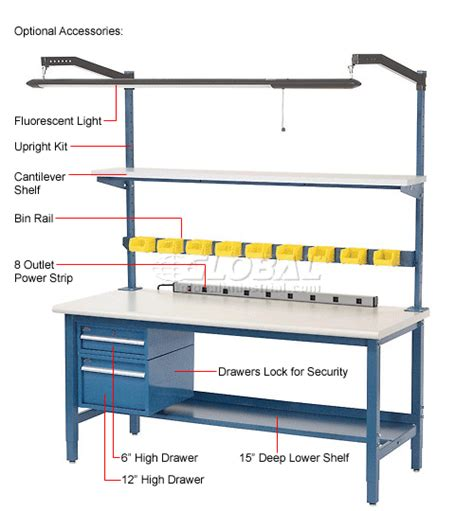 production work benches work bench systems adjustable height 48 quot w x 30 quot d