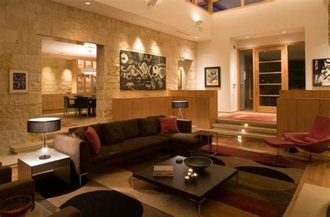 cosy modern living room ideas split level home designs for a clear distinction between functions