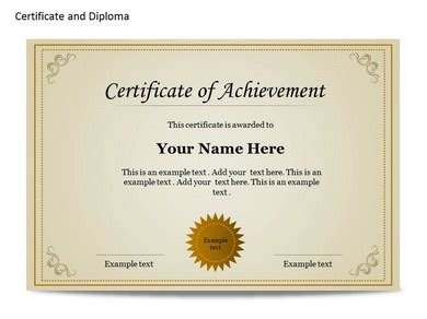 Certificat And Diploma Chart Powerpoint Templates And Backgrounds Powerpoint Certificate Templates Free