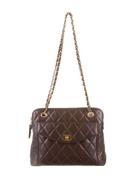 Quilted Shoulder Bags by Chanel Quilted Shoulder Bag Handbags Cha82479 The Realreal