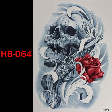 skull rose gun tattoo buy wholesale tattoos from china