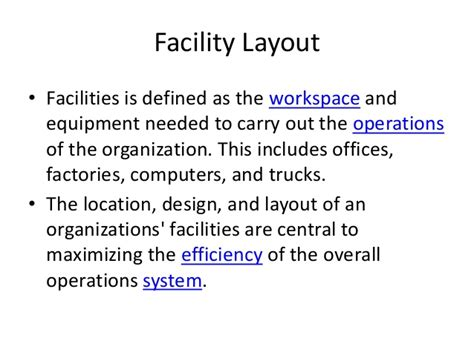 How Many Units In An Mba by Mba Ii Pmom Unit 2 3 Facility Layout A