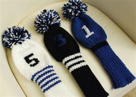 knitting pattern golf club covers ravelry golf club covers with initials pattern by lion