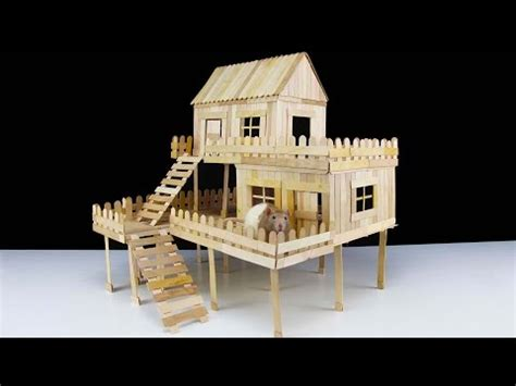 how to make a house how to make popsicle stick house for rat youtube