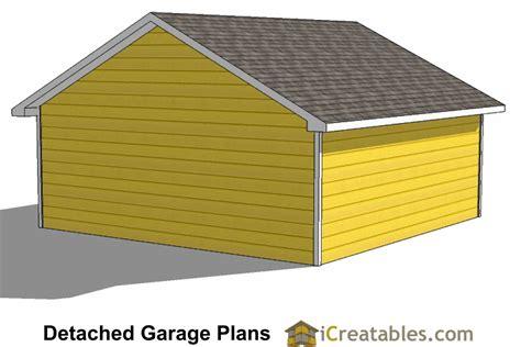 triad 1 car garage plans 24x24 garage plans 2 car garage plans