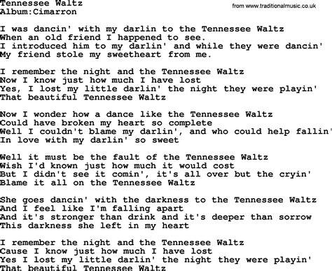 waltz lyrics emmylou harris song tennessee waltz lyrics