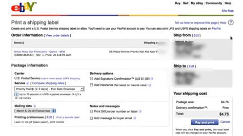 ebay delivery how to print ebay shipping label youtube