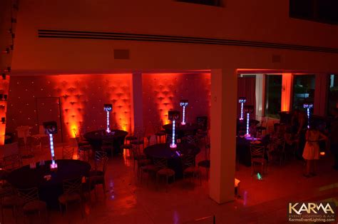 red themed events karma event lighting for weddings and special events