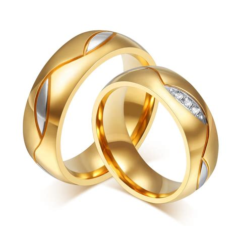 fashion and wedding rings 18k gold plated rings
