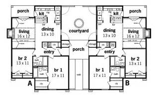 Marvelous Multi Family House Plans With Courtyard #5: 020D-0025-floor1-8.gif
