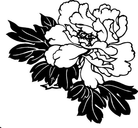 Wedges N Bunga Flower Floral 1 hawaiian flower clipart black and white clip