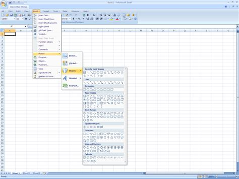 page layout menu in excel classic style menus and toolbars for microsoft excel