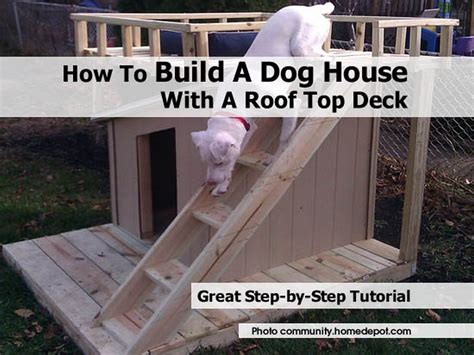 how to roof a dog house how to build a dog house with a roof top deck