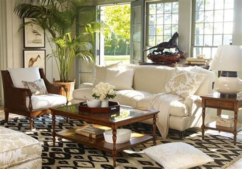 Tropical Living Room Decorating Ideas Williams Sonoma Home 2009 Colonial Tropical Living Room By Williams Sonoma Home