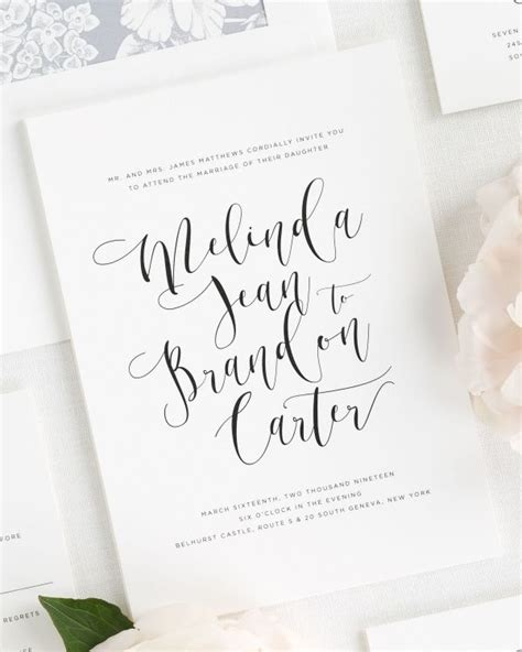 Wedding Invitations Calligraphy by Calligraphy Wedding Invitations Wedding
