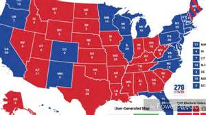 electoral college map saturday october 1 2016 the
