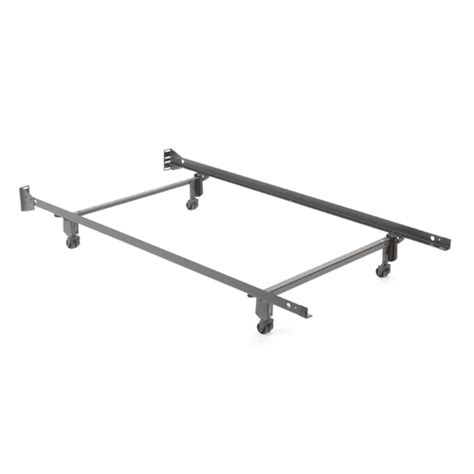 Metal Bed Frame Wheels Size Metal Bed Frame With Casters And Headboard Brackets