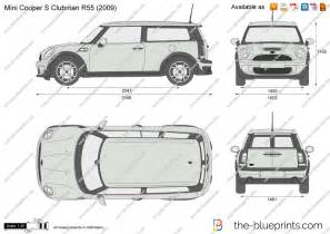 Mini Cooper Clubman Length The Blueprints Vector Drawing Mini Cooper S