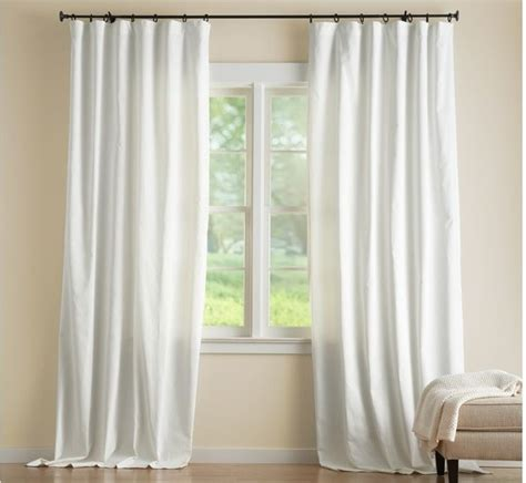 Cameron Cotton Drape White Traditional Curtains By